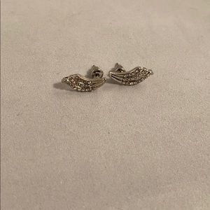 Jewelry - Wing earrings with rhinestones